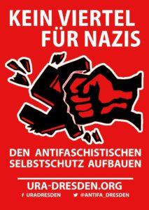 Kein Viertel fuer Nazis - Banner